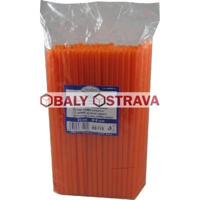 Slámky JUMBO oranžové 25cm, 8mm (150ks)