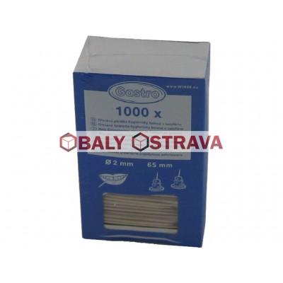Dřevěná párátka hyg. balená v celofánu 65mm (1000ks)