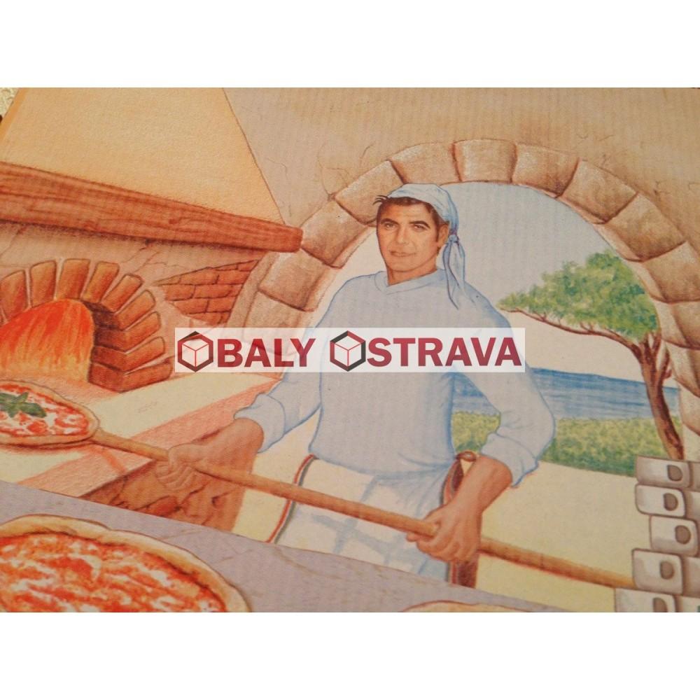 Krabice Pizza 28x28cm potisk (balení 100ks)