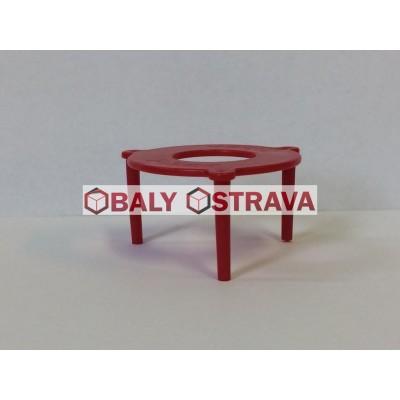 Plastový distanční stojánek do pizza krabic červený (balení 2 000ks)