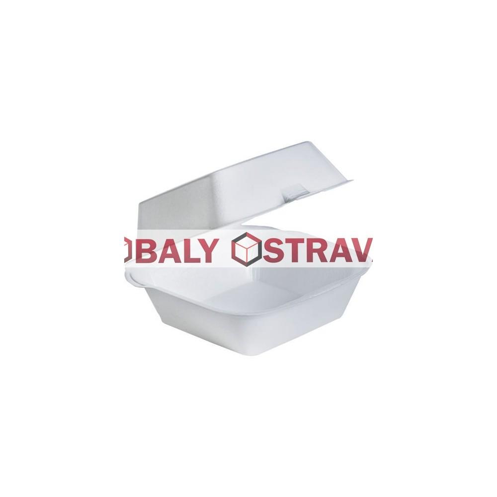 Menu box na hamburger 145x133x75mm pěnový PS
