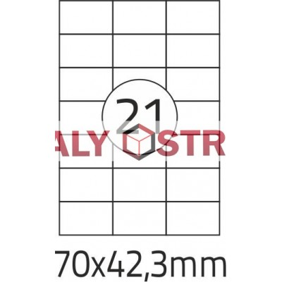 Etikety A4 - 70x42,3mm - 100stránek