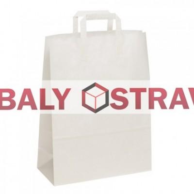 Papírová taška bílá/26x36x12 - baleno po 50kusech