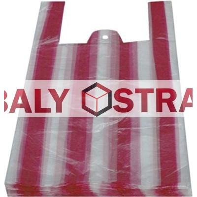 Tašky 10 kg pruhované 30+16x52cm (100 ks)