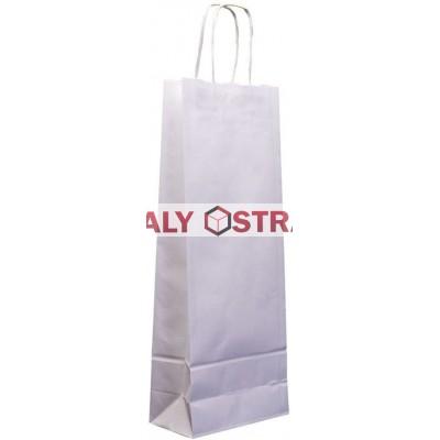 Papírová taška na láhev- 140x390x80mm kroucené uši