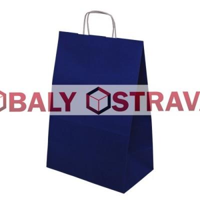 Papírová taška - 305x445x170mm modrá