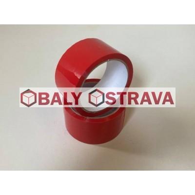 Lepící páska Červená, šíře 48mm