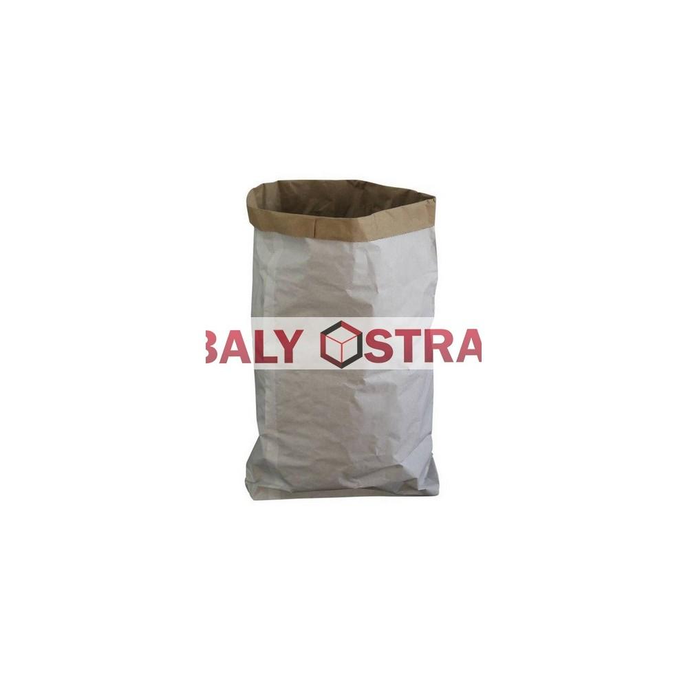 Papírový pytel 2vrstvý bílý 50x75x15 s HDPE folii