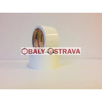 Lepící páska bílá 48mm x 66m - tichá (low noice)