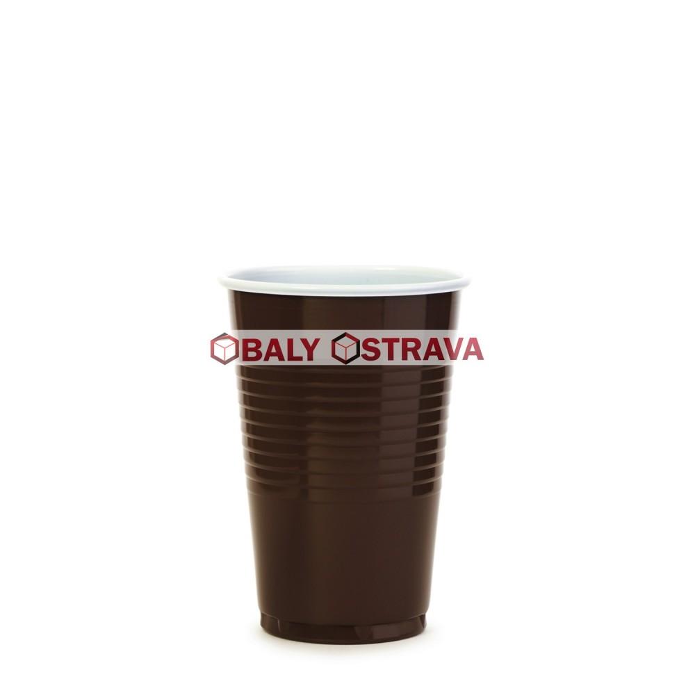 Kávový kelímek hnědo-bílý 0,18 l (pr. 70 mm) (100 ks)