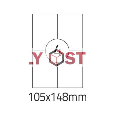 Etikety A4 - 105x148mm - 100stránek