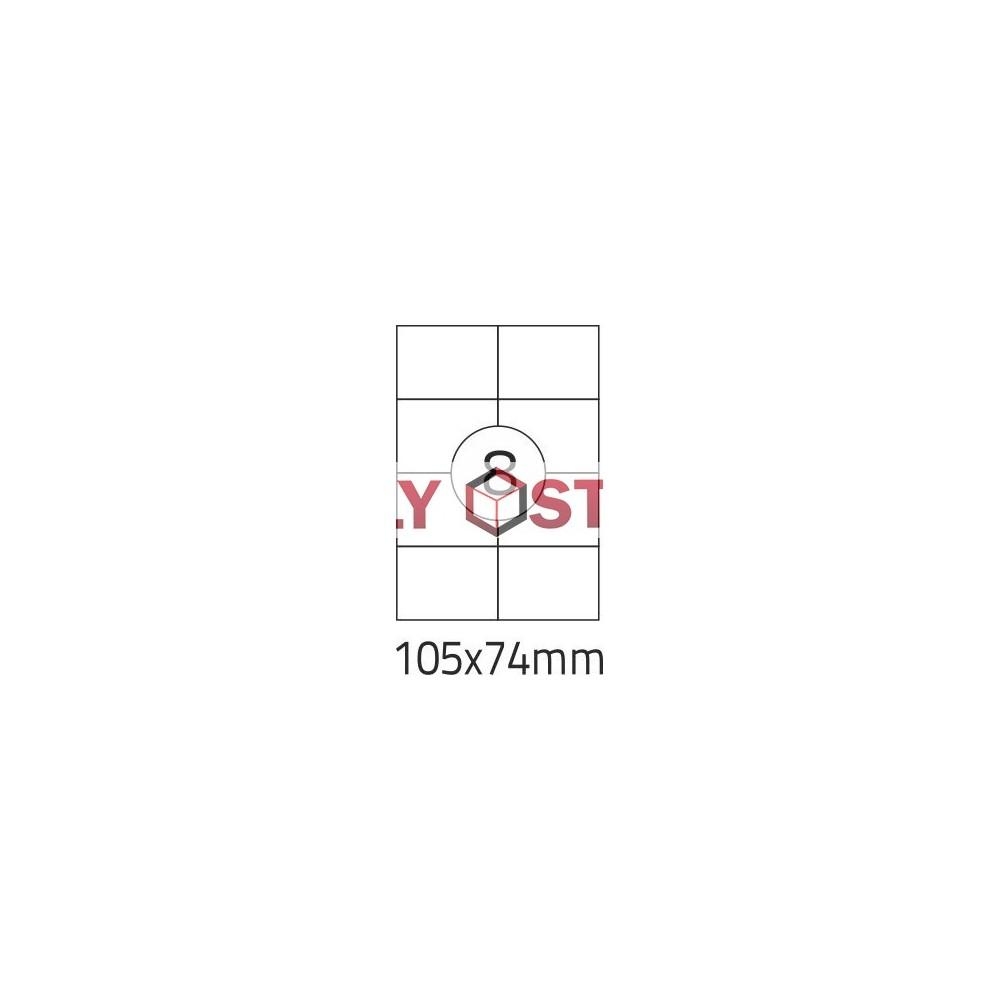 Etikety A4 - 105x74mm - 100stránek