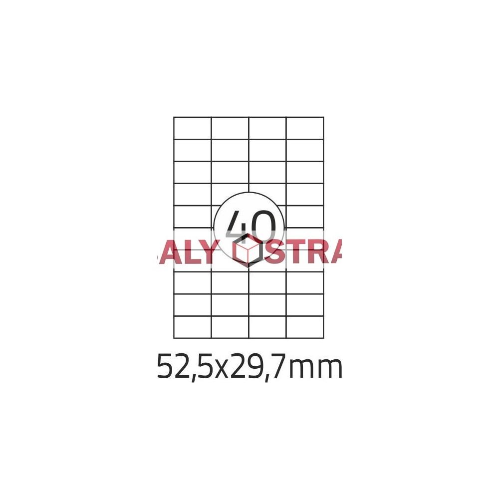 Etikety A4 - 52,5x29,7mm - 100stránek