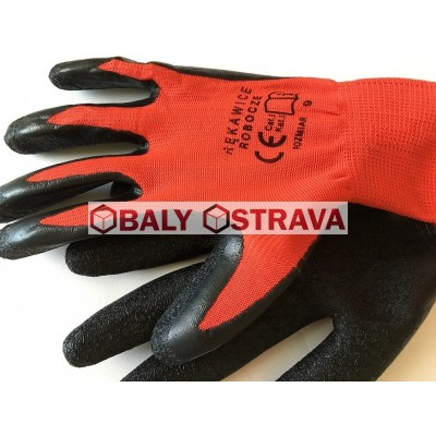 Pracovní rukavice - XXL, červeno - černé