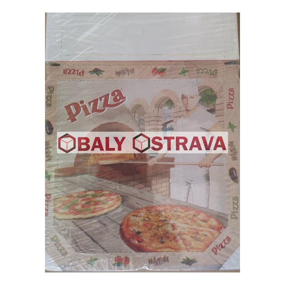 Krabice Pizza 32x32cm potisk (balení 100ks)