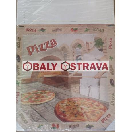 Krabice na pizzu 32x32cm potisk (balení 100ks)