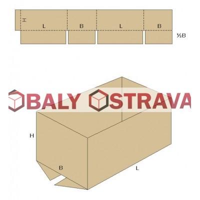 Krabice bez horních klop 5VVL 330x260x500mm