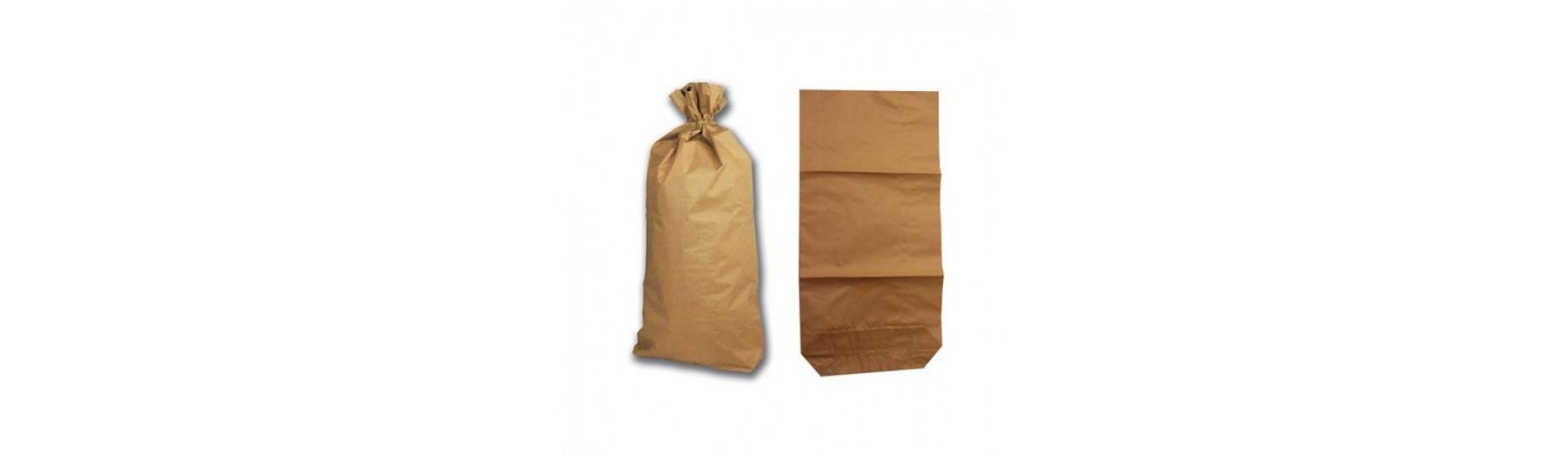 Papírové pytle 3vrstvé hnědé